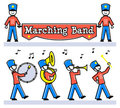 Cartoon Kids Marching Band/eps Royalty Free Stock Photography - 23332677