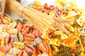 Different Kinds Of Pasta Stock Image - 23349951