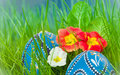 Easter Eggs With Flowers Stock Photo - 23359590
