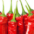 Macro Of Red Chili Peppers Royalty Free Stock Photo - 23360715