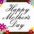 Mother S Day Flowery Border Royalty Free Stock Images - 23371259