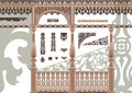 Vector Carved Architectural Elements Royalty Free Stock Image - 23372176