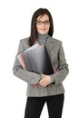 Businesswoman With File Folders Royalty Free Stock Photos - 23375988