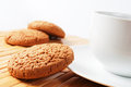 Cup Of Coffee And Oatmeal Cookies Royalty Free Stock Photography - 23384597