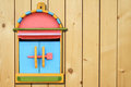 Colorful Wood Mailboxes On Wood Wall Royalty Free Stock Images - 23392259