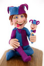 Jester Clay Sculpture Royalty Free Stock Images - 2340189