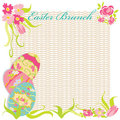 Easter Brunch Invitation Party Stock Photo - 23408600