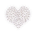 Heart From Dandelion Seeds Stock Photos - 23412453