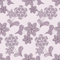 Violet Seamless Pattern With Flowers Royalty Free Stock Photos - 23413678