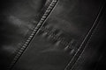 Leather Texture Colose-up With Linear Stiches Stock Photos - 23420453