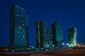 Night City Of Astana,  Kazakhstan Stock Images - 23425184