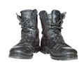 Old Army Boots Stock Photo - 23432230