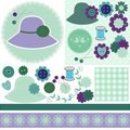 Scrap Booking Set Of Objects On White Royalty Free Stock Photos - 23433448