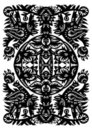 Decorative Black Pattern Royalty Free Stock Photo - 23434375