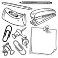 Office Supplies Sketch Stock Photos - 23436283