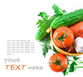 Fresh Vegetables  On A White Background Stock Image - 23445581