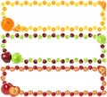 Colorful Fruit Frames Stock Photography - 23451052