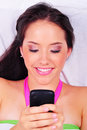 Cell Phone Girl Stock Image - 23451361