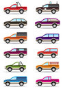 Different Off Road And SUV Cars Royalty Free Stock Image - 23458096