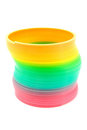 Slinky Toy Over White Royalty Free Stock Photography - 23461027