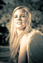 Strong Confident And Beautiful Female Angel Stock Images - 23462364