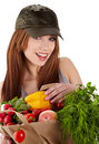 Healthy Lifestyle Fruit Shopping Royalty Free Stock Photos - 23465028