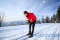 Young Man Cross-country Skiing Stock Photography - 23467212