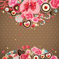 Valentine`s Day Vintage Card Stock Photography - 23479112