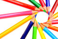 Colour Pencils On A White Background. Royalty Free Stock Photography - 23481217