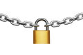 Padlock And Chain Royalty Free Stock Images - 23488169