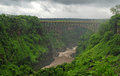 Bridge Over Canyon(Zambia, South Africa) Royalty Free Stock Image - 23494676