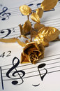 The Gold Flover And Note Royalty Free Stock Photos - 2352568