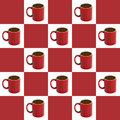 Checkered Coffee Background Stock Image - 2352761