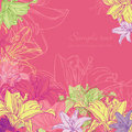Background With Lily Stock Images - 23509964