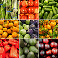 Fruit And Vegetable Collage Stock Photography - 23520182