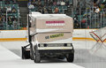 Zamboni In NCAA Hockey Game Stock Images - 23520854