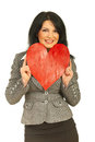 Business Woman Rest Face In Heart Stock Photo - 23522910