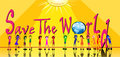 Kids With Word Of Save The World Stock Image - 23524901