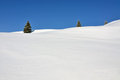 Three Fir Trees On Snowy Hills Royalty Free Stock Images - 23525549