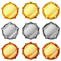 Golden, Silver And Bronze Medals Royalty Free Stock Photography - 23533977