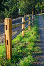 Fenced Path To Woods Royalty Free Stock Photos - 23535468