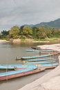 Boats On The Mekong River Stock Photos - 23537663