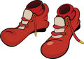 Boots For The Clown With Red Socks. Cartoon Royalty Free Stock Photos - 23540808
