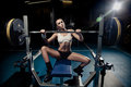 Sporty Sexy Woman In Gym Royalty Free Stock Image - 23541416