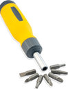 Set Of Screwdriver Heads Royalty Free Stock Photography - 23547007