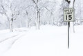 Snow Covered Road Royalty Free Stock Photos - 23547338