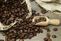Fresh Coffee Beans With Scoop Stock Photos - 23554663