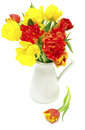Tulips In A Vase Stock Image - 23558711