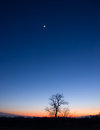 Planetary Conjunction Royalty Free Stock Photography - 23560907