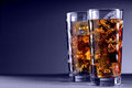 Glass Of Cola With Ice Royalty Free Stock Image - 23564346